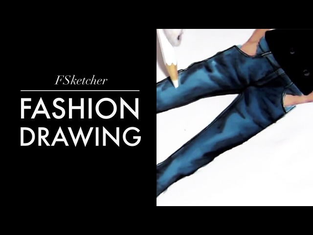 HOW TO DRAW DENIM TROUSERS   Fashion Drawing