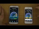 Samsung Galaxy S4 4.4 KitKat CyanogenMod 11 vs. iPhone 5 iOS 7.1 Beta 2 - Internet Speed Test