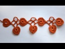 МК вязание крючком • Кайма с листочками сердечками | Как обвязать шаль