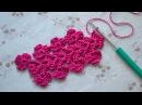 Цветочная кайма крючком • Ленточное кружево • Crocheted Flower Lace/Edging