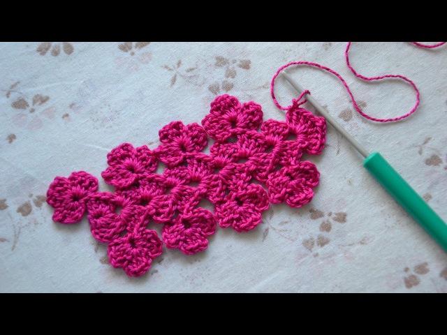 Цветочная кайма крючком. Ленточное кружево. Crocheted Flower Lace/Edging.