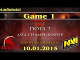 Empire vs NaVi #1 (bo3) (Ru) | Dota2 Asian Championship 2015: Europe Qualifier