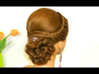 Прическа для длинных волос с плетением. Вечерняя, свадебная, на выпускной