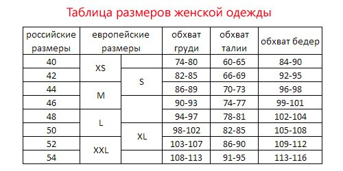 Размеры Платья Soreo