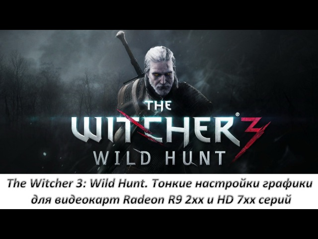 The Witcher: 3 Wild Hunt. Тонкие настройки графики для видеокарт Radeon R9 2xx и HD 7xx серий