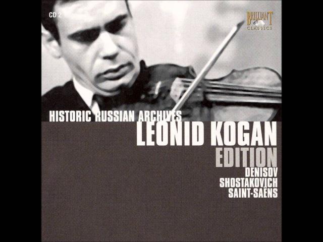 Denisov, Bach Violin Partita, I. Allemanda