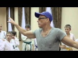 Jean-Claude Van Damme Giving a Karate Lesson to the Youth