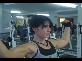 Kortney Olson, Megan Avalon FBB Workout At Golds Gym Oakland