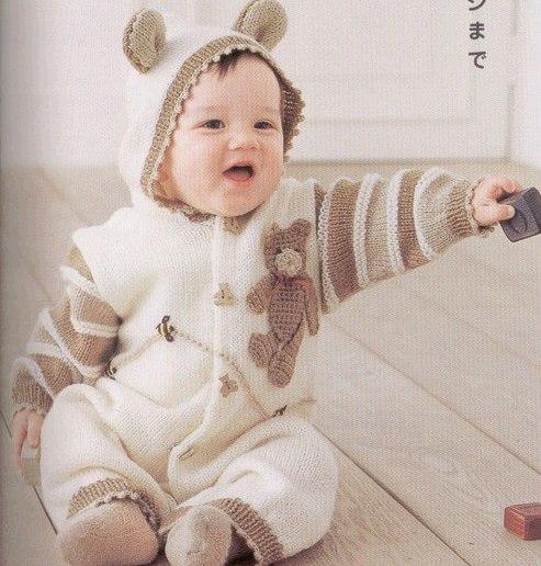 Как связать детский костюм до года