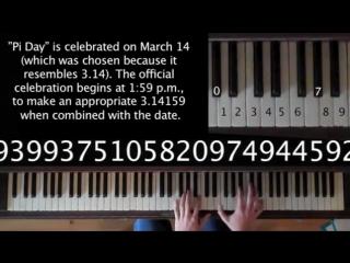 Song from Pi - Число Пи, исполненное на пианино (1)