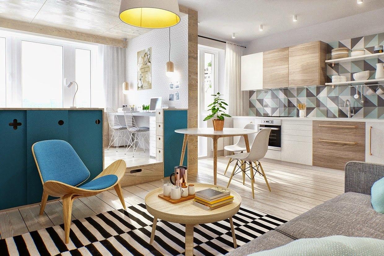 Концепт квартиры 40 м для молодой пары.