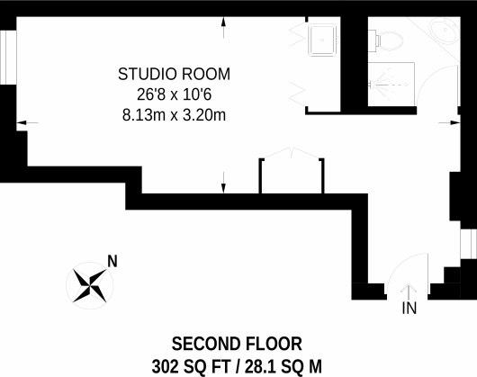 Квартира 28 м Г-планировки.