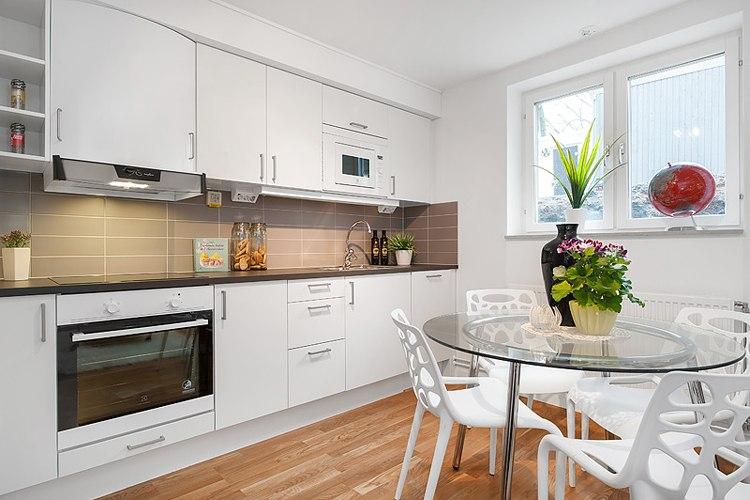 Интерьер квартиры-студии 36 м в Швеции.