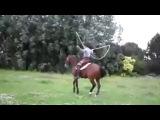 Лошадь прыгает через скакалку.прикол