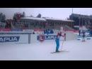 Антон Шипулин гонит перед спринтов в Контио