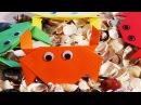Веселое Оригами для детей. Оригами Краб. Как сделать простое оригами из бумаги.