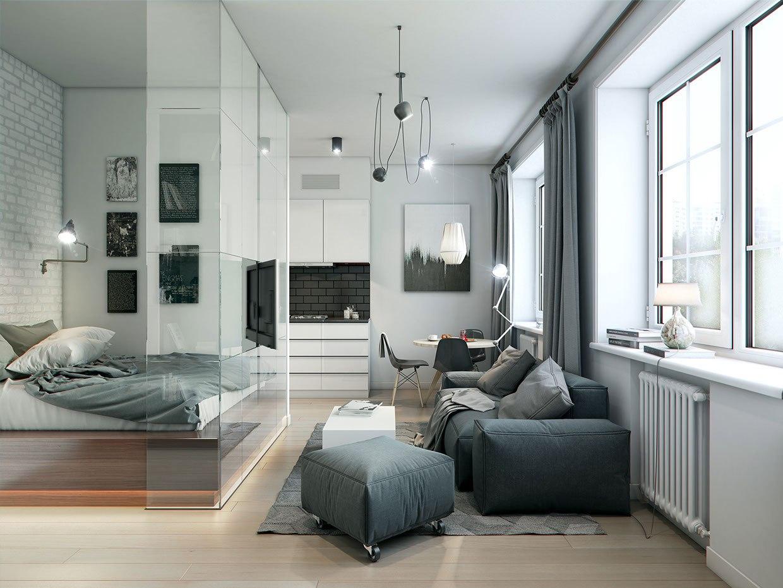 Два проекта для одной квартиры 32 м в разных стилях.