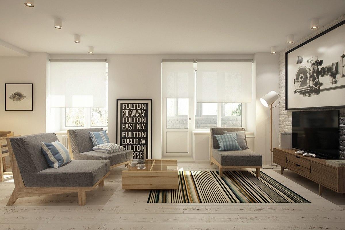 Концепт квартиры-студии 40 м.