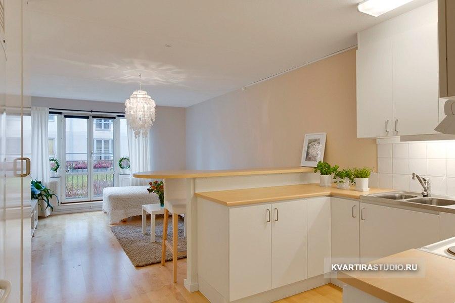 Квартира открытой прямоугольной планировки 30 м - http://kvartirastudio.