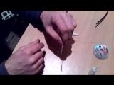 кончик с оптоволоконного кабеля