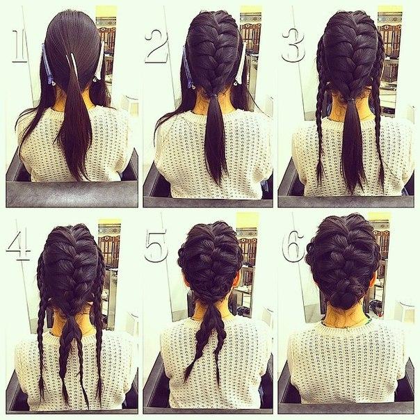 Схемы плетения кос. Причёски