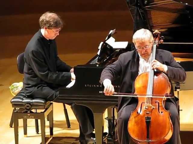 Давид Герингас (виолончель) и Ян Фонтейн (ф-но) - Вокализ (4.07.2010 муз. Сергея Рахманинова)