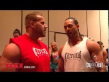 Jay Cutler Catches Up with Mark Anythony Men's Physique Olympia champion at the 2014 NPC Jay Cutler