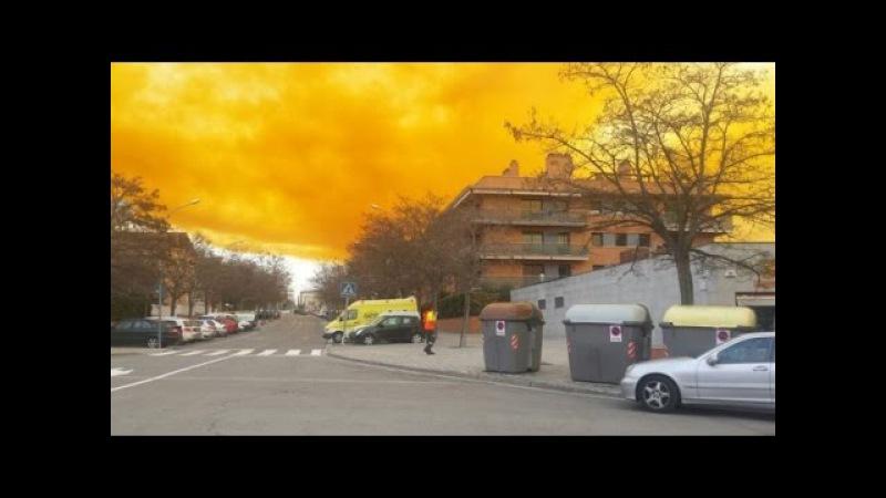 Nube tóxica en Igualada / Toxic cloud in Igualada (Spain)