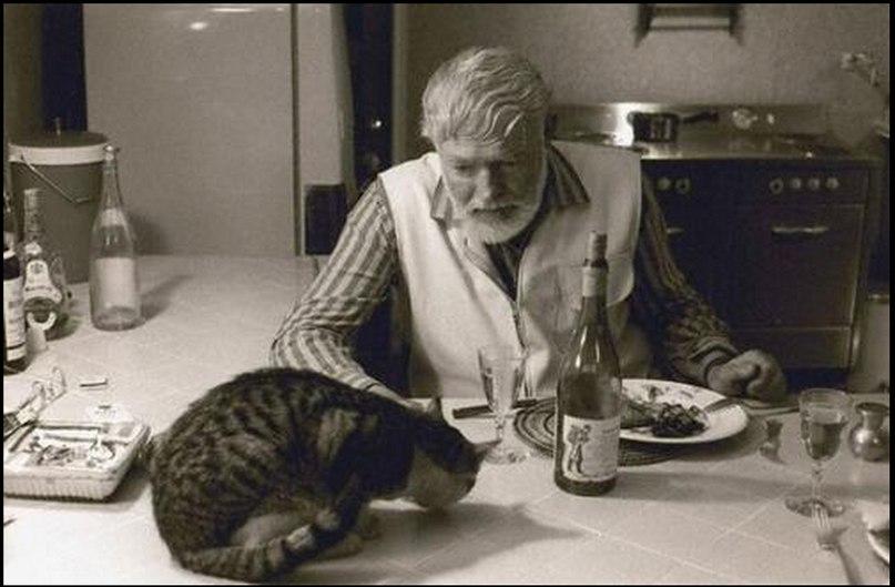 Ernest Hemingway y su gato