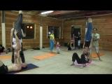 Фестиваль Акро-йоги на Алтае. Акроолимпик. Needle in Shoulderstand