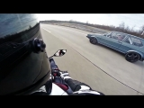 VW Golf Mk1 1056HP vs Yamaha R1 182HP street race Full Version CMIYC#1