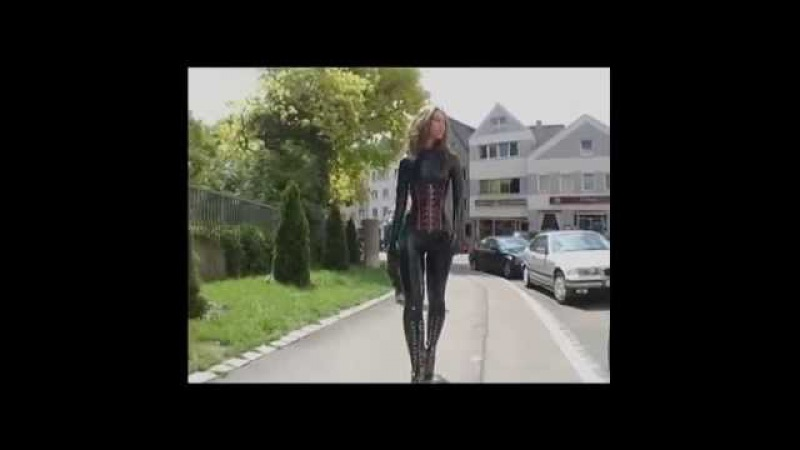 Princess Fatale Latex catsuit in public