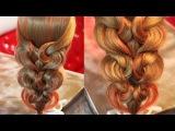 Коса с резинками -