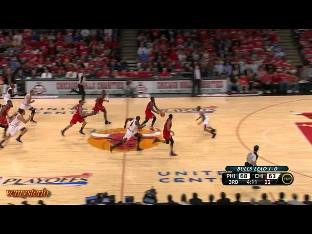 Jrue Holiday Lou Williams combine 46pts vs Chicago Bulls First Round Game2 (2012.05.01)