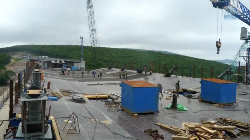 Владивосток Строительство моста на остров Русский 1 5 года за 7 минут