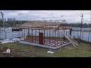 Как быстро построить дом. Каркасный дом на винтовых сваях. 54м2