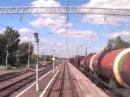 Мичуринск-В - Рыбное   Вид из кабины ЭП10-009 / Russia cab ride locomotive EP10, 2007 year.