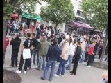 KK Partizan and CSKA Moscow fans in Paris 2010
