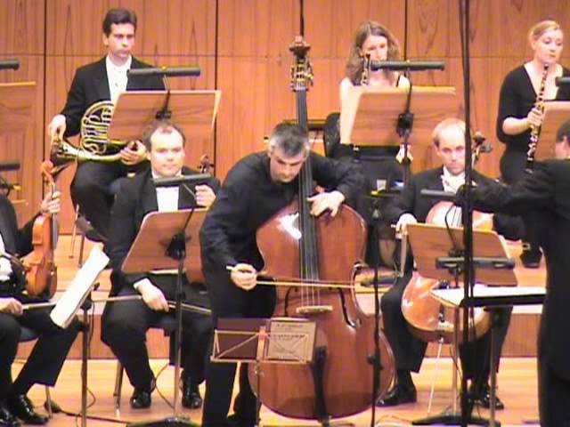 Capuzzi double bass concerto (1st mov.) - Božo Paradžik (double bass), SWDKOSebastian Tewinkel