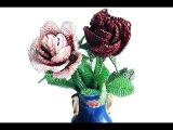 DIY:Как сделать РОЗУ из бисера Часть 1. Rose of beads. Part 1. Flower of beads.(Бисероплетение)