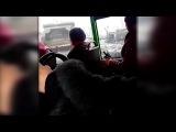 Convoy of Russian tanks in Ukraine moving through Lugansk