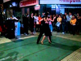 Beautiful performance dancing Tango