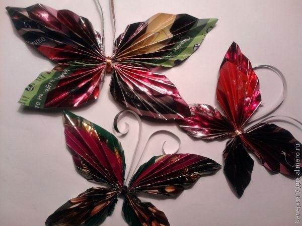 Бабочки из ненужных журналов