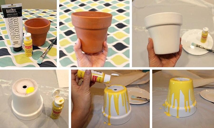Как своими руками сделать горшочек для цветков 791