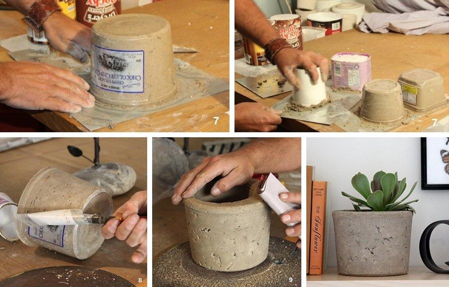 Как сделать горшок для цветов своими руками