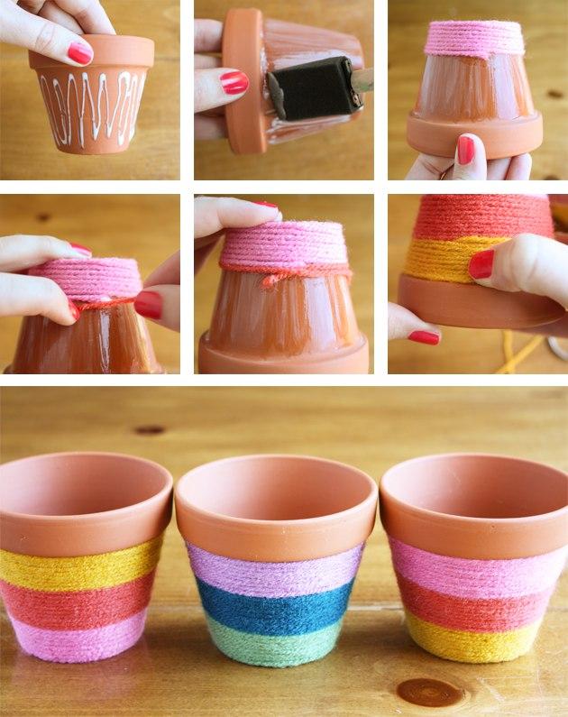 Горшки для цветов декорированные своими руками