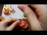 Marshmallow lollipop リンゴのマシュマロ ロリポップ