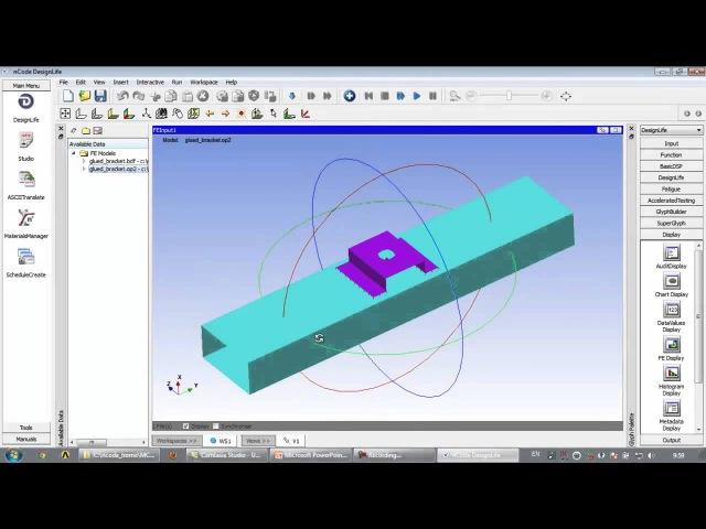Видеоурок CADFEM VL1311 - Усталостная долговечность клееного соединения в ANSYS nCode DesignLife