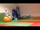 Упражнение для борцов на фитболе Exercises for wrestlers of fitball