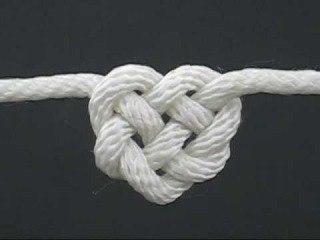 Как завязать кельтский узелок «сердце».